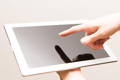 「タブレット貸与」イメージ画像